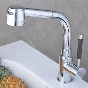 Chrome Single Handle Centerset Kitchen Faucet T18008