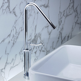 Contemporary Brass Bathroom Sink Faucet Chrome Finish T0468