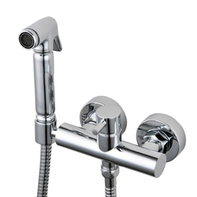 Contemporary Solid Brass Bidet Faucet Chrome Finish DB002