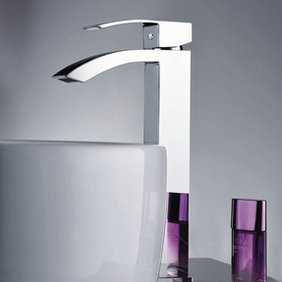 Elegant Solid Brass Bathroom Sink Faucet Chrome Finish Tall T0520H