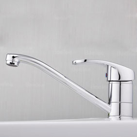 Single Handle Chrome Centerset Kitchen Faucet T18002