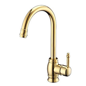 Ti-PVD Finish Widespread Antique Style Bathroom Sink Faucet T1727