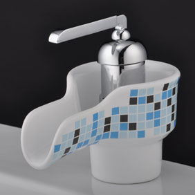 Waterfall Bathroom Sink Faucet with Ceramic Spout T0538A